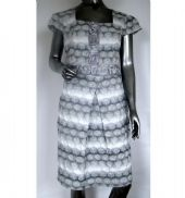 NassC - Occasion Dress & Bolero - Silver Grey Rose Pattern Design / Code: N20283 / N10545